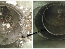5 - debris filled ducts before and after cleaning