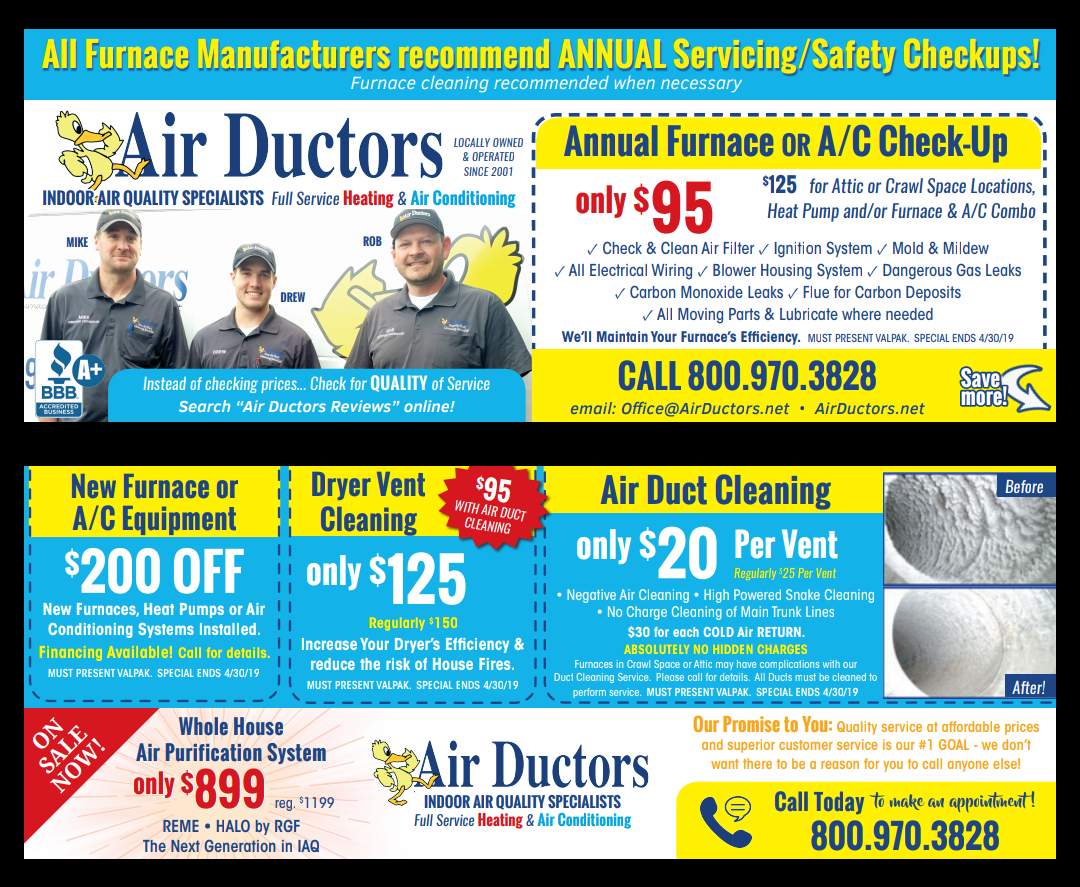 Furnace Repair & Duct Cleaning | Air Ductors
